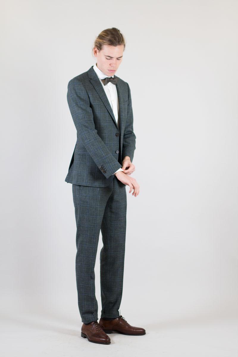Costumes sur mesure Beau. : Modèle Costume à carreaux en maille fine